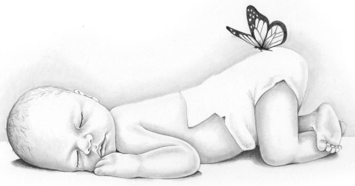 Рисунки беременных женщин карандашом 23