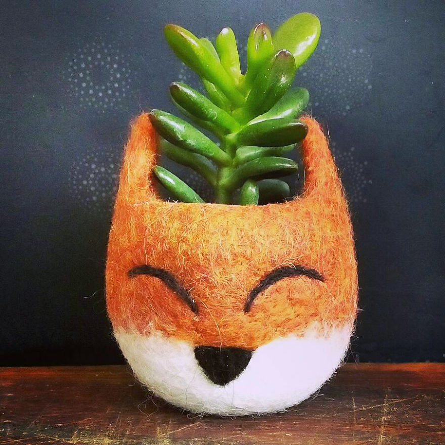 Fox Planter - A Cute Dress For Your Little Succulents