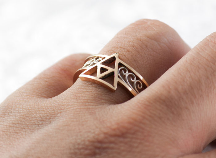 Triforce Gold Ring