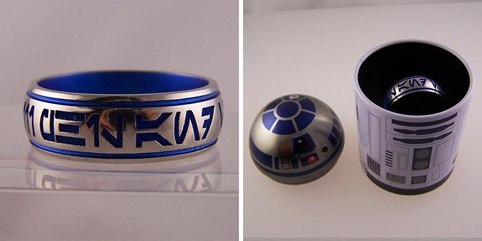 Star Wars Ring In R2-d2 Ring Box