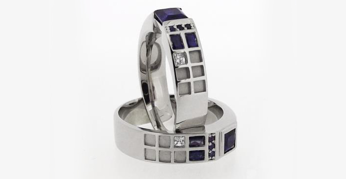 Doctor Who Police Box Rings