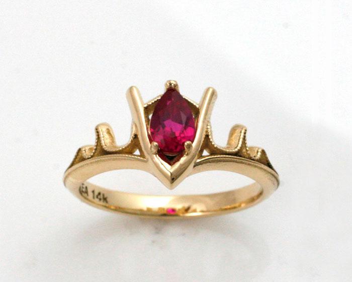 Goron's Ruby Legend Of Zelda Gold Ring