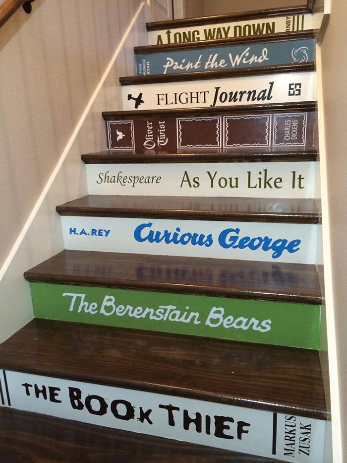 Book Decals For Stair Risers