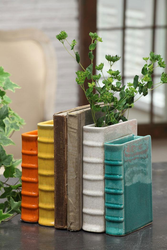 Flower Pot Bookends