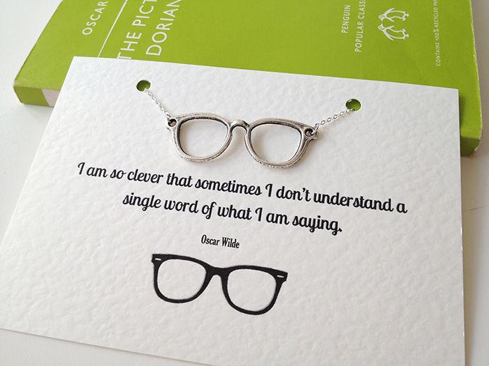 Oscar Wilde's Glasses Necklace