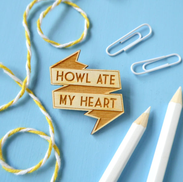 Howl's Moving Castle Quote Brooch