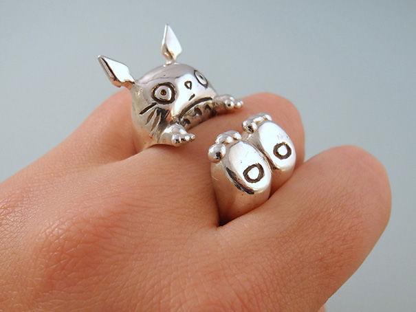 Silver Totoro Ring