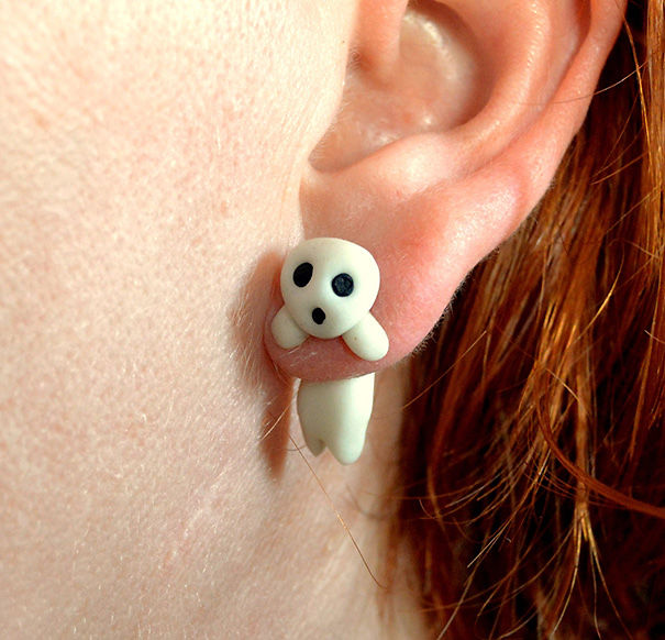 Kodama From Princess Mononoke Earring