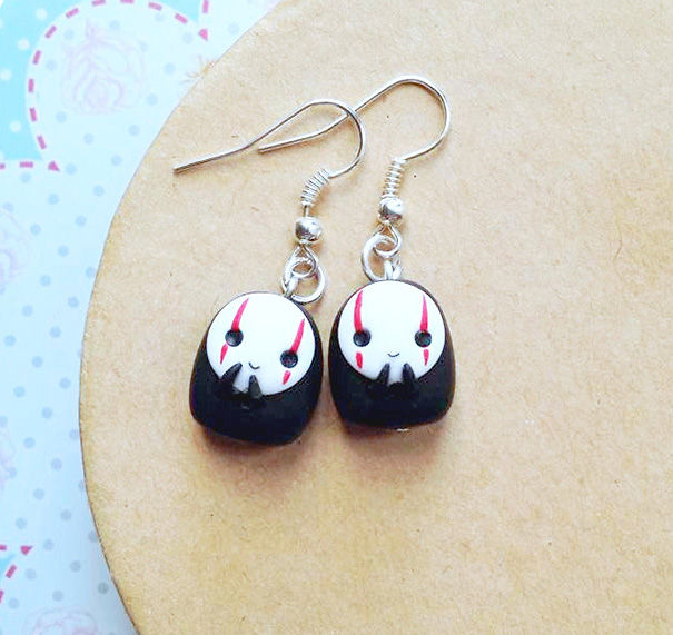 No Face From Spirited Away Earrings