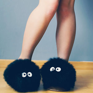 Soot Sprite From My Neighbour Totoro Slippers