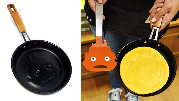 Calcifer From Howl's Moving Castle Kitchen Tool And Pancake Pan