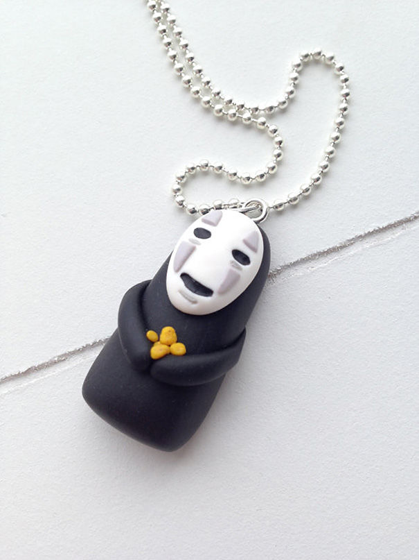 No Face From Spirited Away Necklace