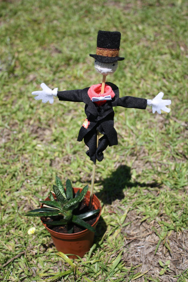 Turnip Head Scarecrow House Plant Decoration From Howls Moving Castle
