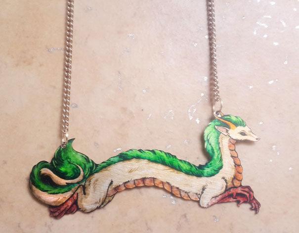 Spirited Away Haku River Spirit Necklace