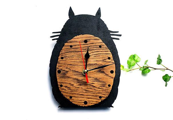Totoro Wooden Wall Clock