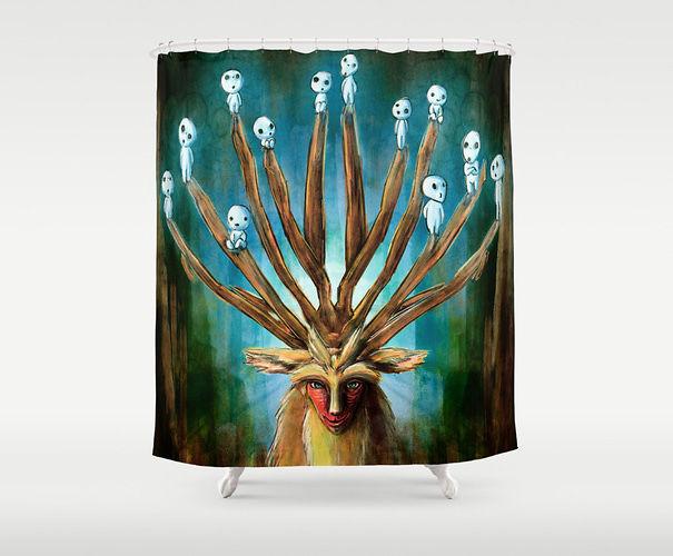 The Deer God From Princess Mononoke Shower Curtain