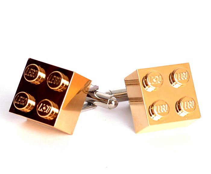 I Use Gold-Plated Lego Bricks To Create Jewelry And Handbags