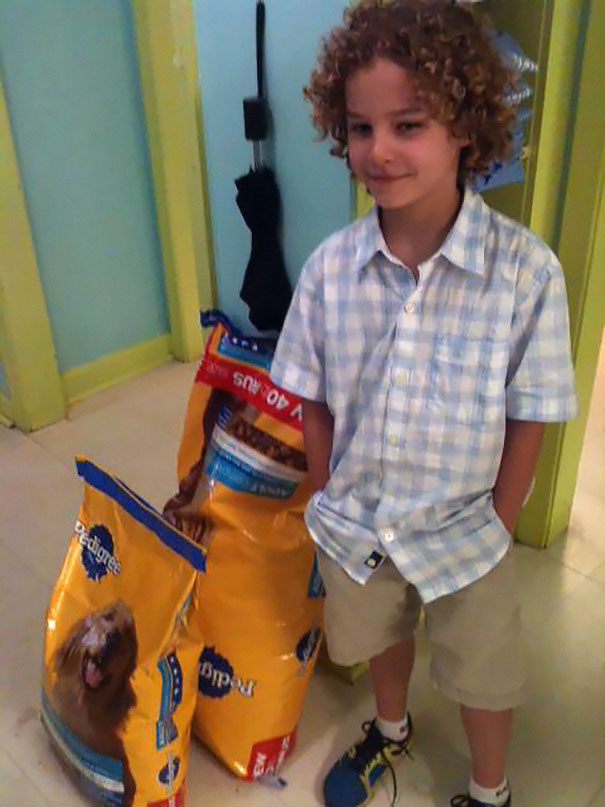 This Young Man Bought Some Dog Food With His Own Money And Donated It To An Animal Shelter