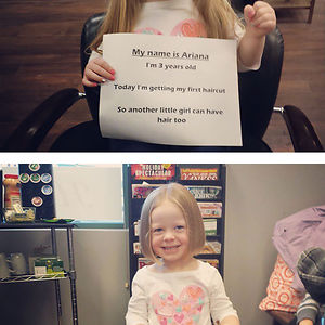 """My 3yr Old Daughter Saw A Little Girl Without Hair And Asked Why She Was Bald. I Explained She Was Sick And The Medicine Made Her Hair Fall Out. """"oh. She Can Have Some Of My Hair,"""" She Said"""