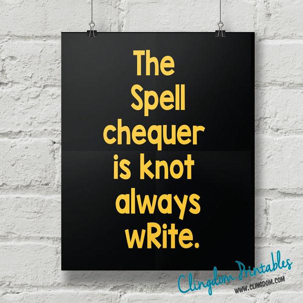 Spell Checker Poster
