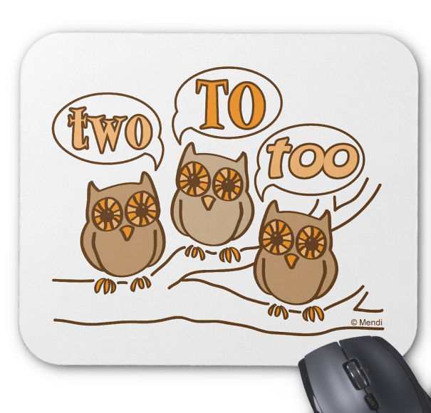 Two, To, Two Mouse Pad