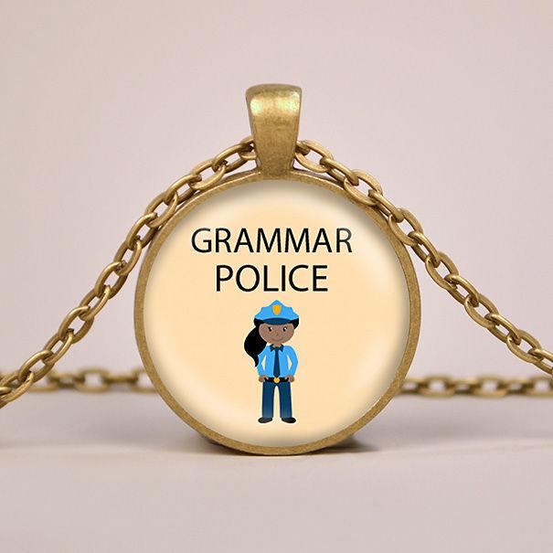 Grammar Police Necklace