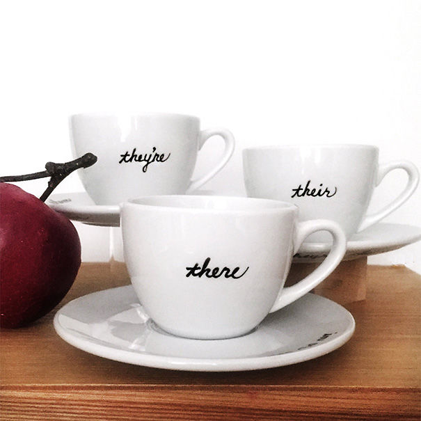 Grammar Teacup Set