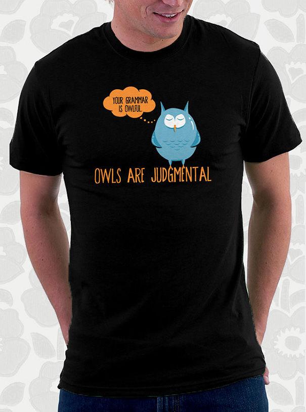 Owl Grammar T-shirt
