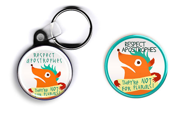 Keychain And Button For Those Who Respect Apostrophes