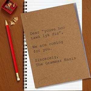 Grammar Nazi Notebook