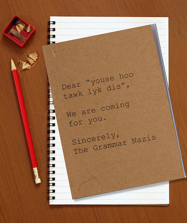 Grammar Nazi Notebook