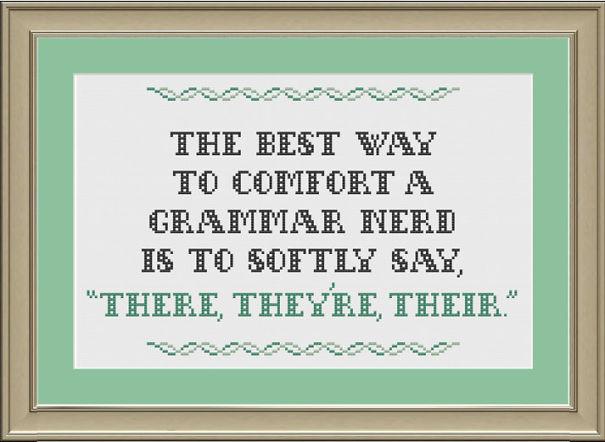Cross-stitch Pattern For A Grammar Nerd