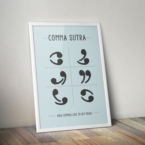 Comma Sutra Poster