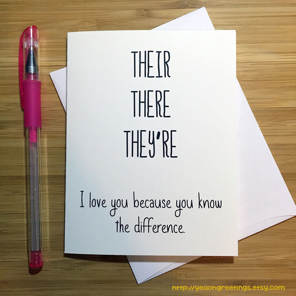 I Love You Card For A Grammar Nerd