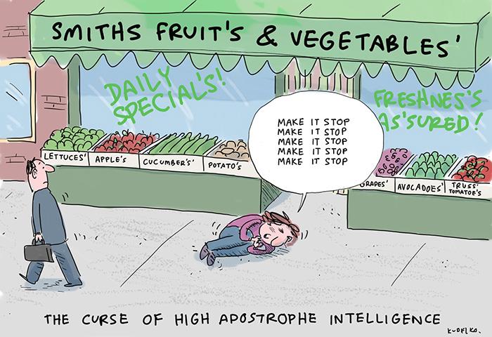 The Curse Of High Apostrophe Intelligence