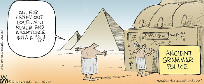 Ancient Grammar Police