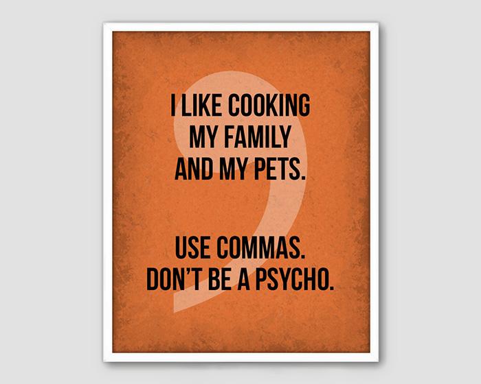 Funny Grammar Poster