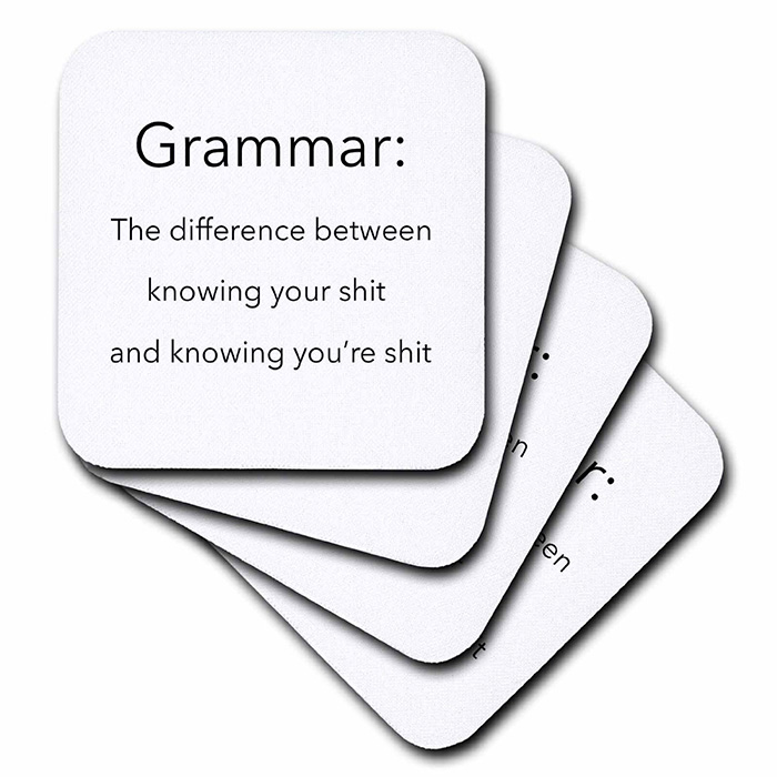 Coasters For Grammar Lover