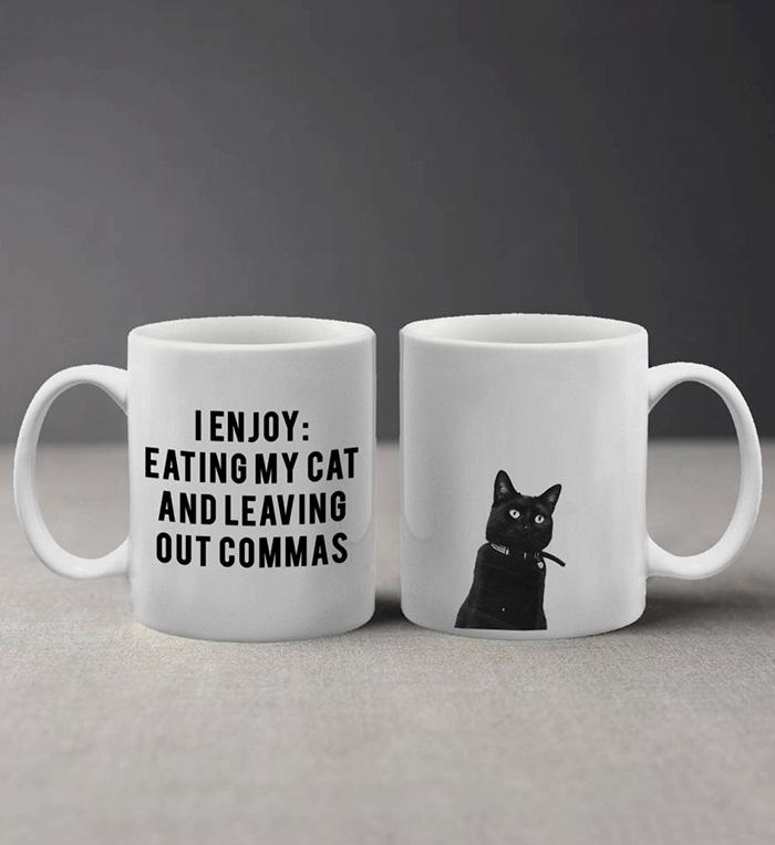 I Enjoy Eating My Cat Mug