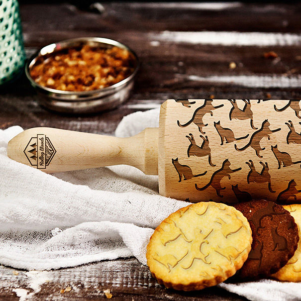 Laser Engraved Rolling Pin
