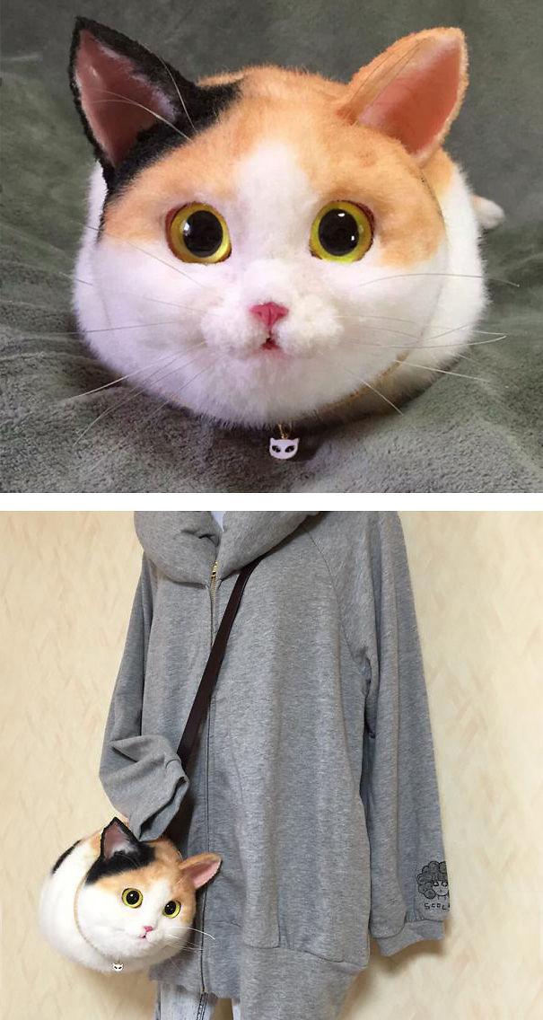 Felted Cat Bag