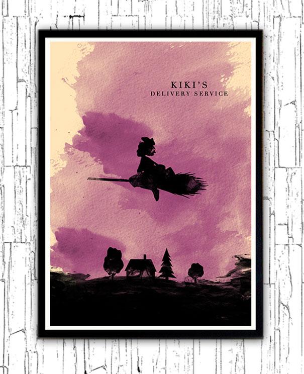 hayao-miyazaki-characters-watercolor-minimalist-posters-alp-celik-2