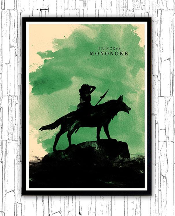 hayao-miyazaki-characters-watercolor-minimalist-posters-alp-celik-4