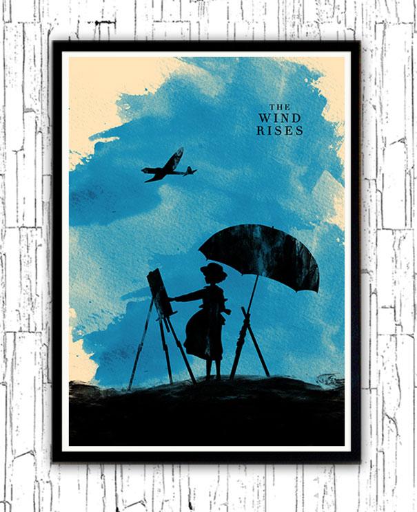 hayao-miyazaki-characters-watercolor-minimalist-posters-alp-celik-5