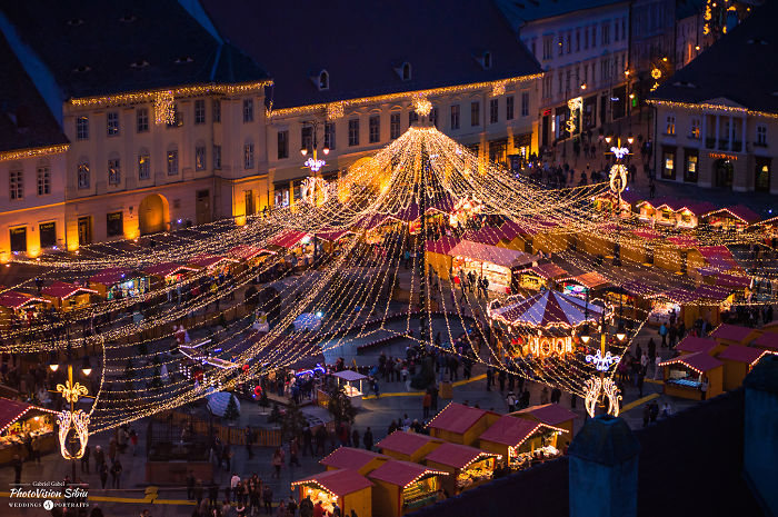 I Captured The Atmosphere Of The Christmas Market In Sibiu, Romania