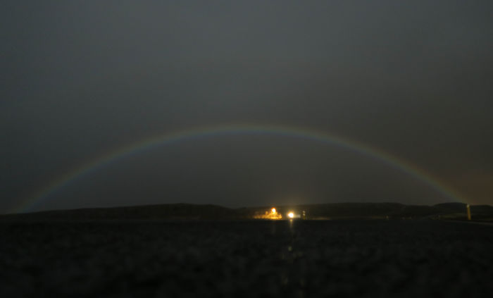 I Caught This Moonbow Near The Small Town Of Stykkisholmur, Iceland