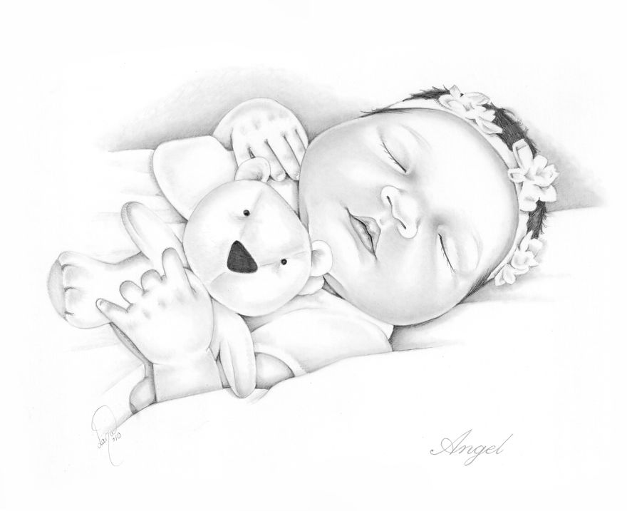 I Draw Baby Portraits For Families Who Suffered Early ...