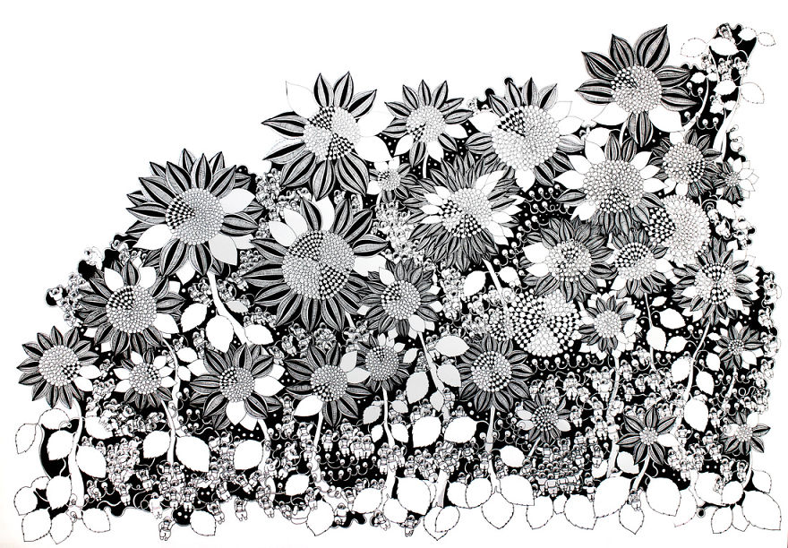 I draw detailed illustrations with black pens on white paper bored i draw detailed illustrations with black pens on white paper bored panda mightylinksfo Images