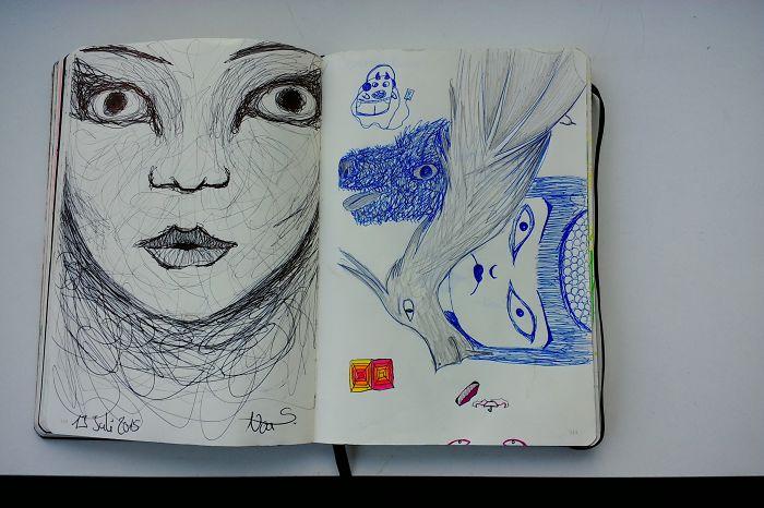 I Draw Various Random Things In My Sketchbook (page 110-119)