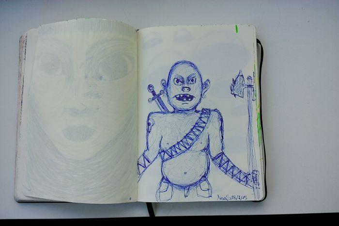 I Draw Various Random Things In My Sketchbook (page 120-129)